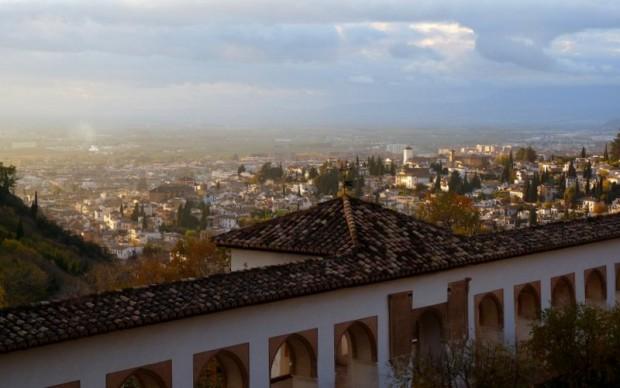 Granada vom Generalife (Alhambra) aus