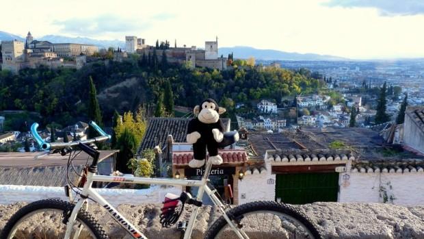 Alhambra, Granada, Kurt, Fahrrad