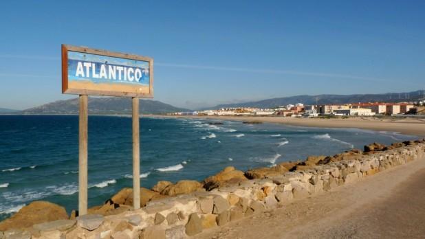 Der Atlantik zur linken...
