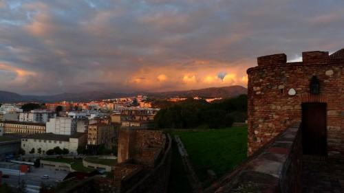 Sonnenuntergang im Alcazaba in Malaga