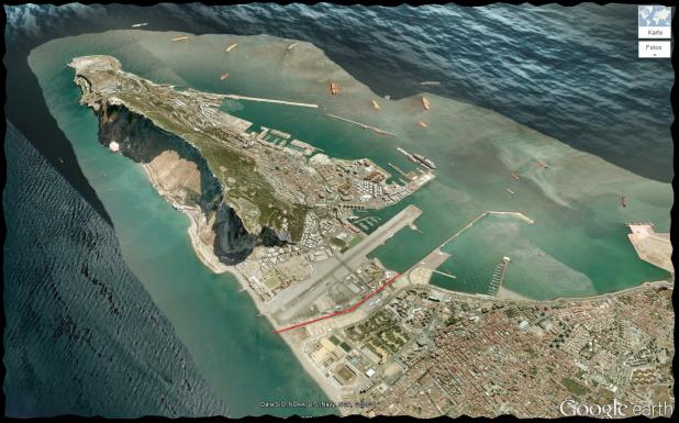 Satellitenbild von Gibraltar