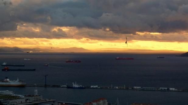 Sonnenuntergang in Gibraltar