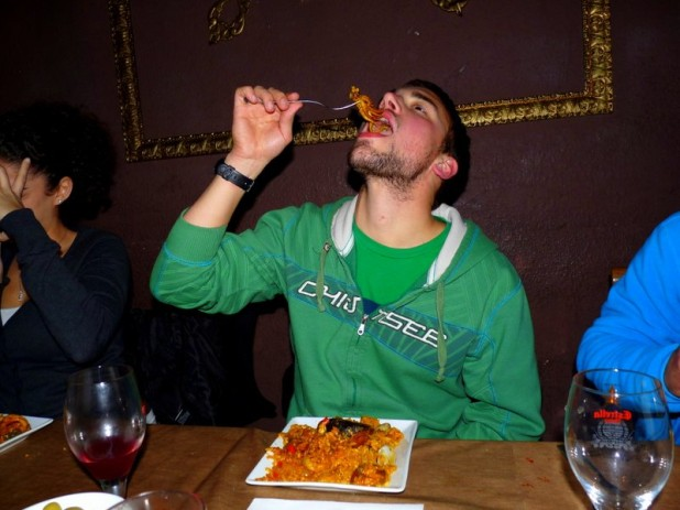 Tintenfisch in der Paella - nicht jedermanns Geschmack