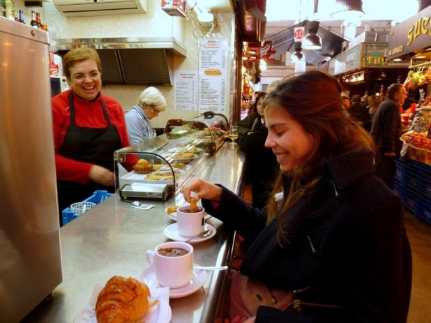 Churros zum Frühstück in La Boqueria