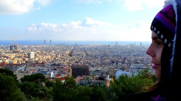Aussicht auf Barcelona vom Parque Güell