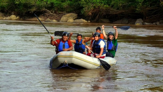 Brown water rafting