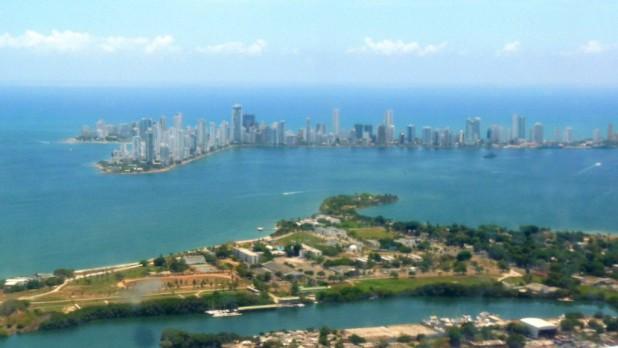Anflug auf Cartagena