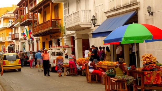 Gewönliche Straße in Cartagena