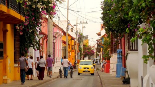 Typische Straße in Cartagena