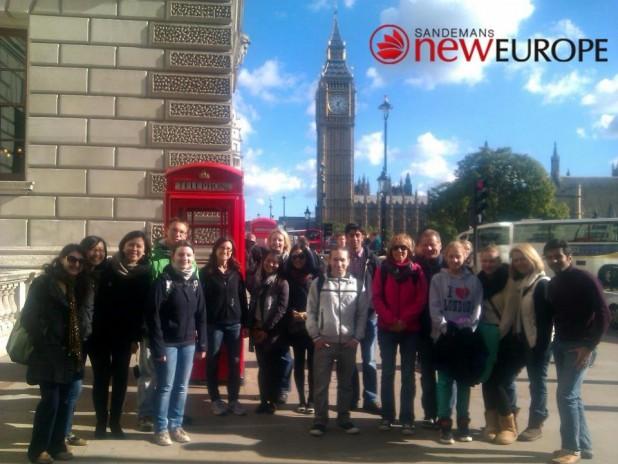Gruppenfoto auf der Walking Tour, yey!