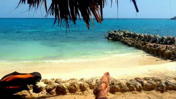 In Ermangelung anderer Gäste: ein Strand für mich allein