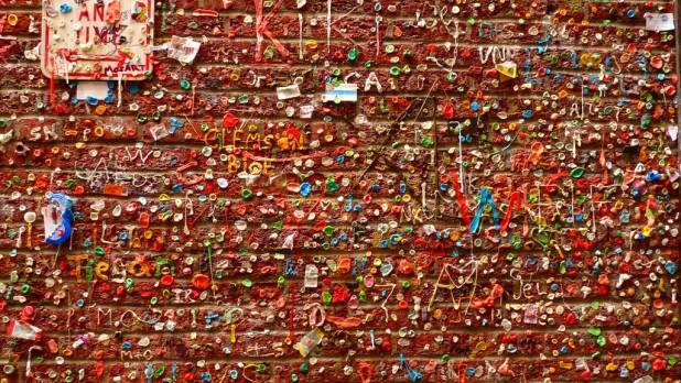 Gum Wall - eine Wand aus Kaugummi