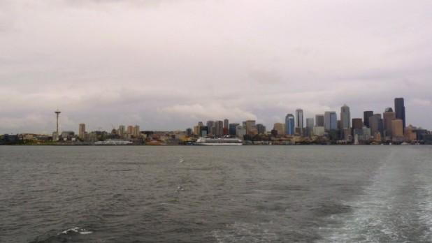 Die trübe Skyline von Seattle