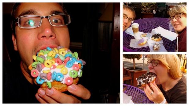 Doughnuts zum Abendessen und Mittagessen