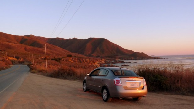 Meine Karre bei Sonnenuntergang