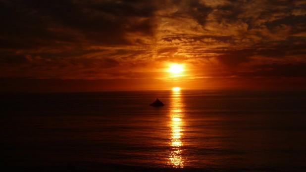 Sonnenuntergang über dem Pazifik