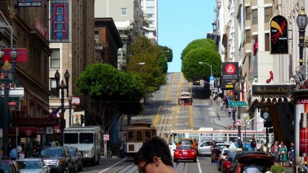 San Francisco steile Hügel