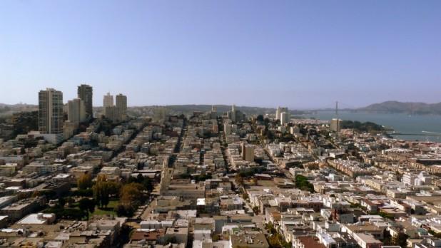 Blick auf San Fran vom Coit Tower