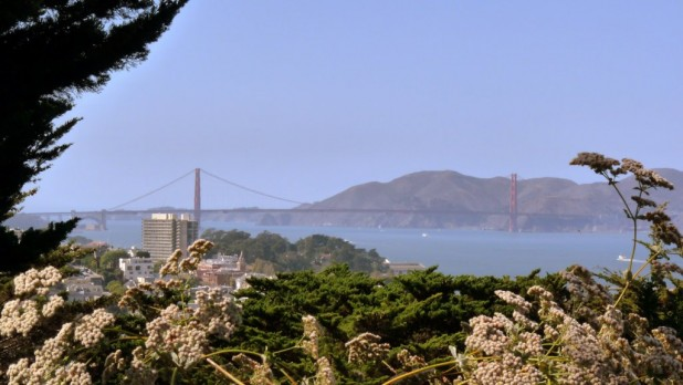 Golden Gate Bridge vom Coit Tower aus
