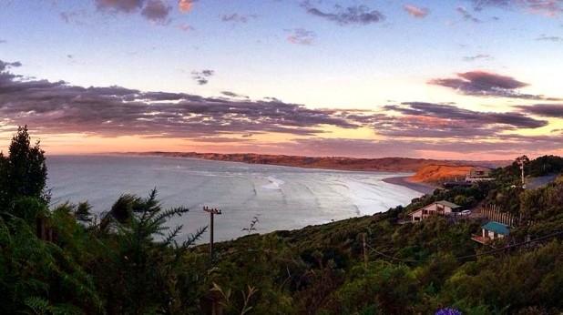 Ausblick von Solscape in Raglan, Neuseeland, wo ich seit zwei Monaten lebe.